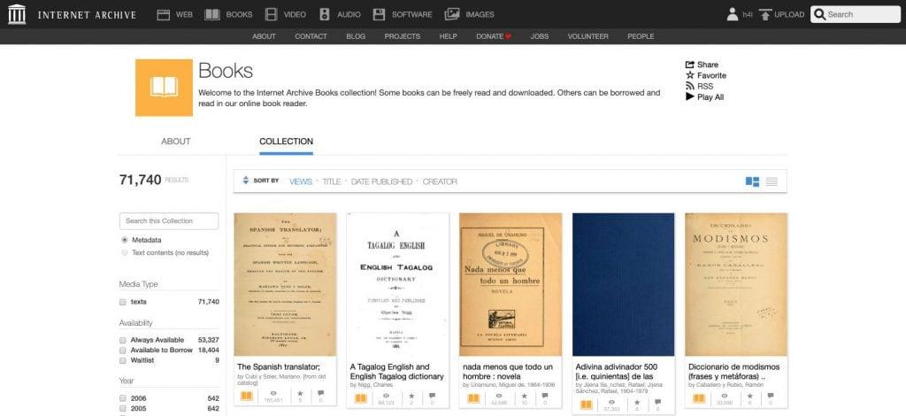 Archive.org, la biblioteca más grande interet