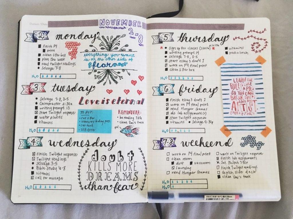 usa el método bullet journal para tu lista de tareas